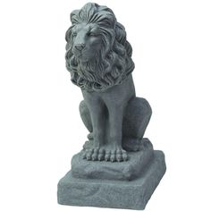 Emsco 28 in. Guardian Lion Statue in Grey-2211-1 - The Home Depot
