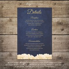 Rustic Chic Wedding Invitation Details by Soumya's Invitations