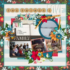 The Things I Love A Hard Knock Life by Kristin Cronin-Barrow Template from Set 189 by Cindy Schneider digital scrapbook layout, mistyhilltops.com