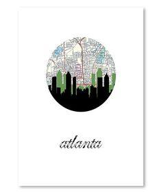 Loving this Atlanta Map Skyline Print on #zulily! #zulilyfinds
