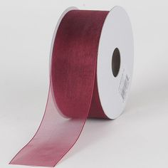 Wine Wedding Shower Favors Party 1//2 Inch Sheer Wired Organza Ribbon Burgundy