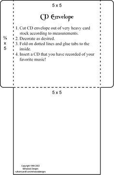 CD sleeve template