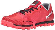 Reebok Womens All Terrain Super 20 Running Shoe Red RushPoppy RedNeon CherryFlat Grey 6 M US *** You can find out more details at the link of the image.