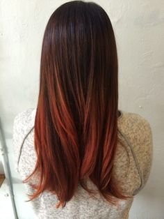 Pretty Fall Hair Color For Brunettes Ideas 46 Ombre Hair Color For Brunettes, Red Ombre Hair, Brunette Color, Brunette Hair, Brown To Red Ombre, Ash Brown, Brown Hair, Blonde Hair, Balayage Hair