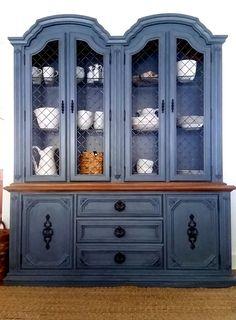 Grey/Blue Farmhouse Style Storage Cabinet China by CharacterHouse