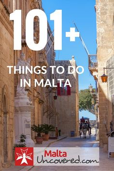 A list of 101+ things you can do on your holiday to Malta.
