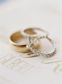 Circle-cut diamond ring: Photography: Brett Heidebrecht - heidebrecht Read More on SMP: http://www.stylemepretty.com/2017/02/07/navy-gold-downtown-chicago-wedding/