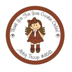 Personalized Stickers Girl Scout Daisy Brownie by simplysweetness, $6.05