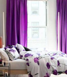 50 Gardinen in Lila – hauchdünne Stoffe und feminines Flair 50 curtains in purple sheer fabrics and feminine flair 50 curtains in purple sheer fabrics and feminine flair Dream Bedroom, Bedroom Wall, Bedroom Curtains, Purple Bedspread, Purple Bedrooms, Purple Interior, All Things Purple, Shades Of Purple, Purple Haze