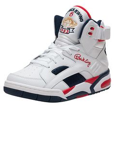 EWING ATHLETICS Men s high top sneaker Lace closure Olympic colorway Lace  lock Heavily padded 8a522daa69