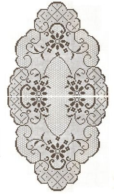 This Pin was discovered by sem Crochet Tablecloth Pattern, Crochet Doily Patterns, Crochet Doilies, Crochet Stitches, Embroidery Patterns, Crochet Home, Irish Crochet, Crochet Crafts, Crochet Projects