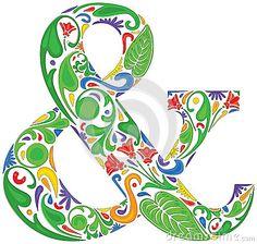 Colorful ampersand by Iva Villi, via Dreamstime