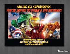9 Best Lego Marvel Birthday Party Images On Pinterest