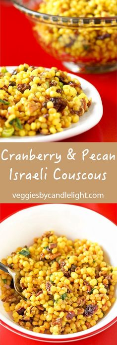 Cranberry & Pecan Israeli Couscous - A salad that's a great side .. perfect to bring to a party .. and wonderful for lunch the next day.