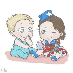 Commission: Baby Steve and Baby Bucky in skirt by SilasSamle on DeviantArt Baby Marvel, Baby Avengers, Disney Marvel, Marvel Art, Marvel Heroes, Marvel Actors, Avengers Cartoon, Avengers Comics, Marvel Jokes