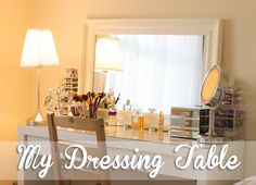 My Dressing Table - Love how she decorated the Malm table. The mirrored jewelry box is a nice touch. :)