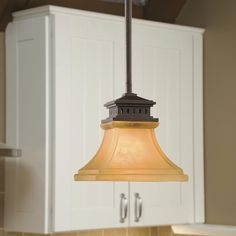 shop allen roth 65in w tannery bronze standard mini pendant light with frosted