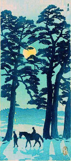 Tanzaku, Tokaido at night