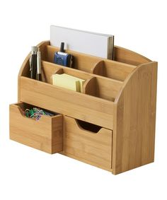 This Versatile Organizer Unclutters Your Home. Crafted From Quality Bamboo,  It Provides A Handsome