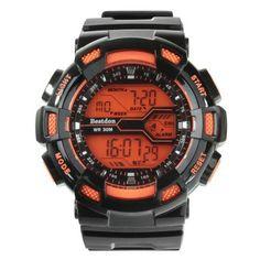 #Bestdon bd5517g male led sports watch Instock  ad Euro 8.38 in #Orange #Watchesjewelry sports watches