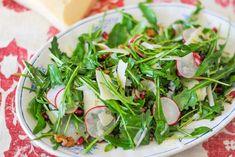 Salada de Rúcula, Romã e Rabanetes ♥ GlutenFree com paixão