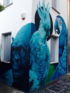 by Refreshink + Kraser + Orticanoodles - Open the Cages / BRERART 2014 - Milan, Italy - Oct 2014