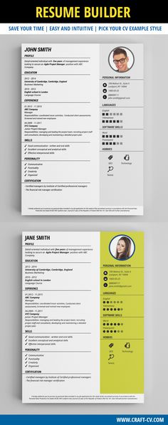 Cv Resume Builder Resume Builder  Creative Resume Templates #creativeresume #resume