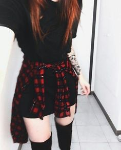 Clothes for teens punk outfit Trendy ideas Punk Outfits, Grunge Outfits, Grunge Fashion, Outfits For Teens, Trendy Fashion, Korean Fashion, Girl Fashion, Casual Outfits, Girl Outfits