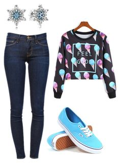 """""""Untitled #2139"""" by janicemckay ❤ liked on Polyvore featuring Pandora, Frame Denim, Vans, women's clothing, women's fashion, women, female, woman, misses and juniors"""