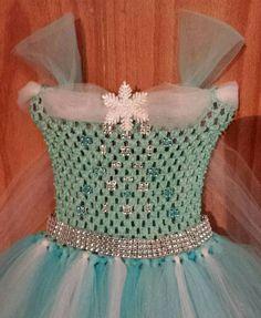 Princess Elsa tutu dress by ADressUpBox on Etsy Little Girl Costumes, Twin Costumes, Cool Costumes, Tulle Tutu, Tulle Dress, Tutu Dresses, Anna Tutu, No Sew Tutu, Frozen Dress