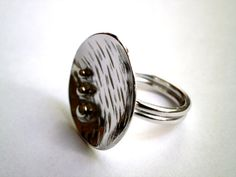 Hammered Silver Ring Womens Ring Silver by JewelryByKonstantis
