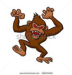 Angry Monkey Cartoon