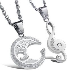 Jstyle Jewelry Stainless Steel Best Friend Puzzle Pendant,Music Note…