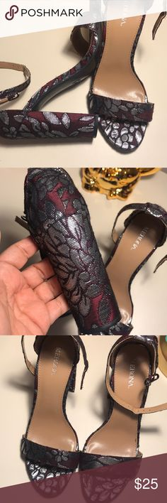 Strap flowered metallic heels ❤️ The color is stunning!  Print amazing My feet are to wide for this type of shoe.. I had high hopes, but they have been sadly just stored. NWT   I don't trade, but I accept reasonable offers ❤️ Bundle your favs for a private discount❤️ Let's be instagram homies! Mindy_arroyo 🌮Posh Ambassador🌮 Merona Shoes Heels