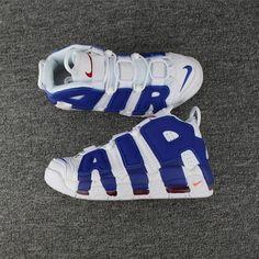6f21fc15fa Nike Air More Uptempo Knicks aka The Dunk Bianca Deep Royal Blu-Team  Arancia 921948