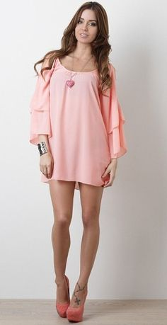 Lovely coral dress