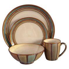 Sango Avanti Dinnerware - Brown - Set of 16 - 4722-16W | Products ...