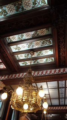 Sostre del Restaurant España a l'Hotel España, Barcelona  Catalonia