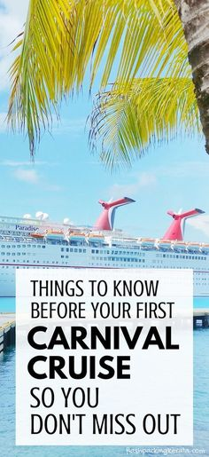 Tips for first time Carnival cruise. Best things to. Tips for first time Carnival cruise. Best things to know before a first… Cruises. Tips for first time Carnival cruise. Best things to know before a first… - Carnival Cruise Tips, Disney Cruise Tips, Packing For A Cruise, Best Cruise, Cruise Travel, Cruise Vacation, Cruise First Time, Packing Tips, Vacation Spots