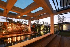 THE MANDALA HOUSE - Sukyf's portfolio Tropical House Design, Tropical Houses, Beautiful Architecture, Interior Architecture, Interior Design, Sunk In Living Room, House Goals, Bali, Pergola