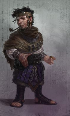 DEVIL: Halfling slayer vigilante,  Side personality of a slave,  Goes on auction and gets bought as a slave to target,  Assassinates captor and liberates halfling slaves             |             Arrogant : Aloof. Gambles a lot. motto :	Little things please little minds.