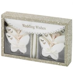 Ivory Butterfly Wedding Wishes