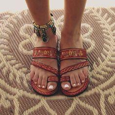 #NorajukuStylist Picks: Embroidered Leather Sandals.