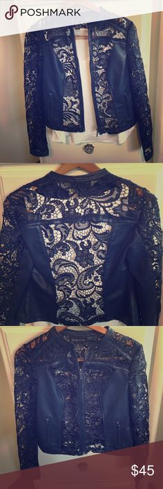 Lace Leather Jacket Perfect to throw on over any top in the spring, summer, or fall. INC International Concepts Jackets & Coats Blazers