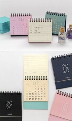 2020 Mini Calendar [4colors] / Desk Calendar / Simple Calendar / Colorful Calendar / 2020 Calendar / Calendar 2020 / Desk Accessories Decor #etsy #papergoods #calendar #backtoschool #christmas #pink #wallcalendar #deskcalendar #minicalendar #deskaccessories Calendar 2019 Desk, Table Calendar, Office Calendar, Cute Calendar, Desk Calendars, Desktop Calendar, Photo Calendar, Magazine Design, Graphic Design Magazine