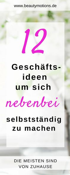Incidentally, as a self-employed woman - 12 ideas to create your own .- Übrigens als selbstständige Frau – 12 Ideen, um Ihre eigene Chefin zu werden …. Incidentally, as a self-employed woman – 12 ideas to become your own boss …. Home Based Business Opportunities, Budget Planer, Money Quotes, Budgeting Finances, Finance Tips, Online Jobs, Trust Yourself, Extra Money, Online Marketing