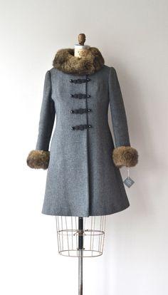 Tropak wool & rabbit fur coat 1960s wool coat by DearGolden