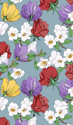 Floral Wallpaper with roses