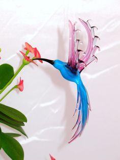 Hummingbird  glass animal figurine by CaraMagicGlass on Etsy, $20.00