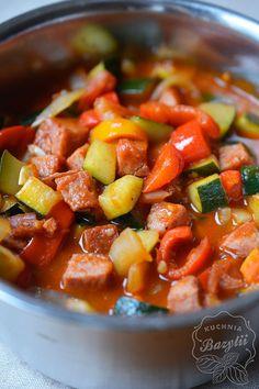 Pikantne leczo z cukinią - kuchniabazylii.pl - blog kulinarny